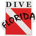 Dive Florida Die Cut Bumper Sticker