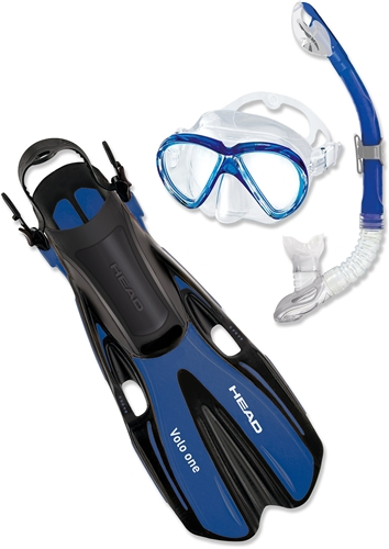 Mares Head Adult - Marlin Dive Mask, Snorkel and Fins Set