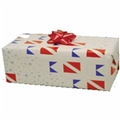 Trident Dive Flag Wrapping Paper