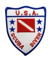 Trident USA Scuba Diver Flag Patch