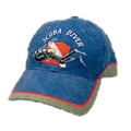 Trident Embroidered Scuba Diver Blue Denim Hat