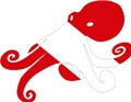 Octopus Dive Flag Scuba Diving Die Cut Bumper Sticker