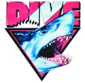 5 in. Shark Head Die-Cut Window Decal