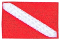 Innovative Emroidered Small Dive Flag Patch 1.5x1 inches