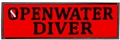 Innovative Emroidered Openwater Diver Patch