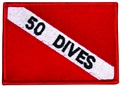 Innovative Emroidered 50 Dives Dive Flag Patch