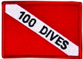 Innovative Emroidered 100 Dives Patch