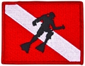 Innovative Emroidered Dive Flag With Diver Patch