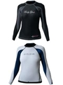 DEMO Model Body Glove Women's 1mm Aura Reversible Long Arm Surf Shirt