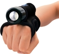 BigBlue AL450 Narrow Beam Dive Light with Tail Switch and Glove