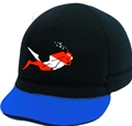 Squidwear 2mm Neoprene Squid Cap with Diver Image