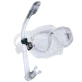 Cressi Sub Perla 2-Window Mask and Dry Snorkel Combo