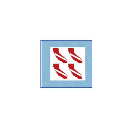 Trident Small State Dive Flag Stickers California