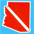 Trident Large State Dive Flag Stickers Arizona