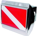 Innovative Chrome Dive Flag Trailer Hitch Cover