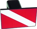 Innovative Plastic Dive Flag Trailer Hitch Cover