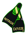 Innovative Emroidered Nitrox Diver Fins Patch