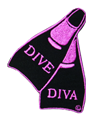 Innovative Emroidered Dive Diva Fins Patch