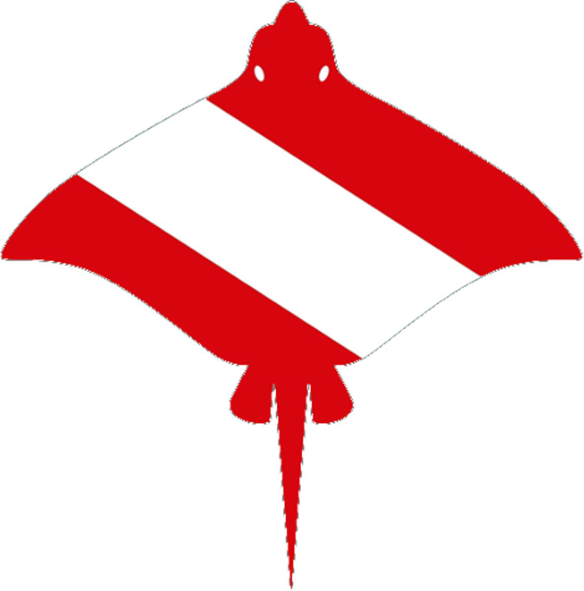 Scuba diving flag vector