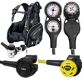 TUSA Liberator BCD Regulator Gauge Scuba Package