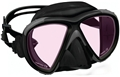 Tilos Hawk Eyes 2-Window Color Lens Mask - Black with Pink Lens