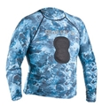 Mares Pure Instinct Mens Blue Camo Rashguard with Chest Pad
