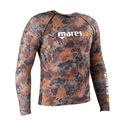 Mares Pure Instinct Mens Rash Guard Top Camo Brown