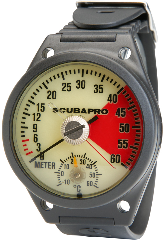 ScubaPro BootWrist Mount Metric  Depth Gauge