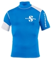 ScubaPro Mens Eco Blue Short Sleeve Rash Guard