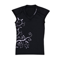 Sub Gear Rash Guard Womens Short Sleeve - Black/Purple