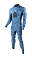 Tilos 5.5oz Camo Blue Spearfishing Skin Suit