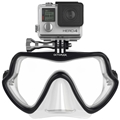 OctoMask GoPro Mount Wide Face Dive Mask