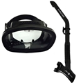 Aqua Lung Atlantis Single Lens Dive Mask Side Draft Snorkel Set