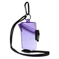 Witz Glitter Box See-It-Safe 3.7in x 2.5in Waterproof ID/Badge Holder