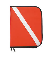 Dive Flag Padded 3 Ring Binder Log Book