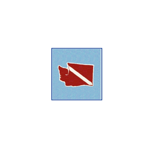 Trident Large Washington State Dive Flag Sticker