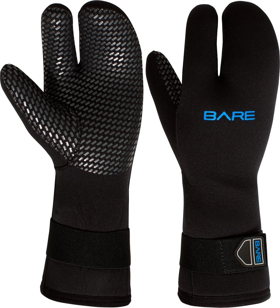 Bare 7mm Three-Finger Mitt