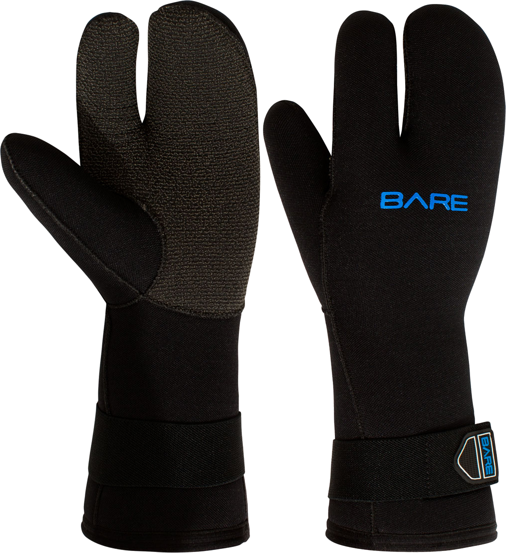 Bare 7mm K-Palm Three-Finger Mitt