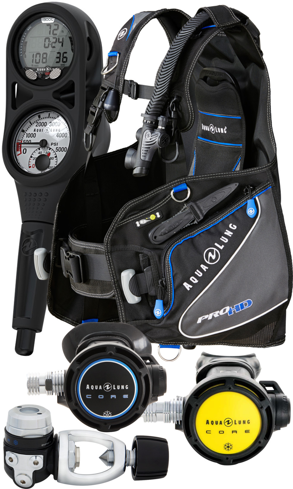 Aqualung Essential Pro HD Cold Water Scuba Package