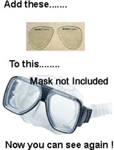 Corrective Lenses For Scuba or Dive Masks (Mask Not Incl.)