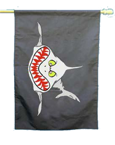 Trident Sharky House Flag Banner
