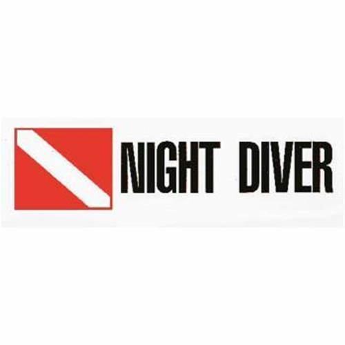 Trident Night Diver Scuba Diving Bumper Sticker