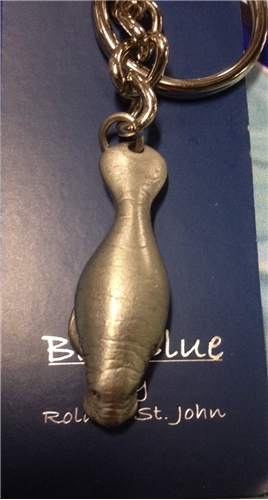 Manatee Pewter Key Ring Scuba Themed Gifts