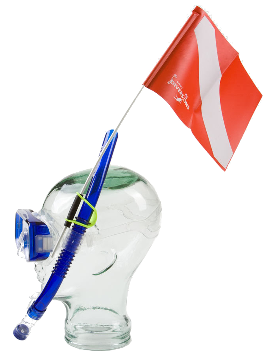 Trident Snorkel Attached Dive Flag