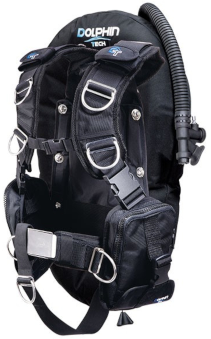 Dolphin Tech By IST JT-40D Single Tank BCD Deluxe Harness & SS Plate