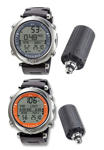 Oceanic OC1 Personal Wrist Dive Computer, USB, Transmitter Complete