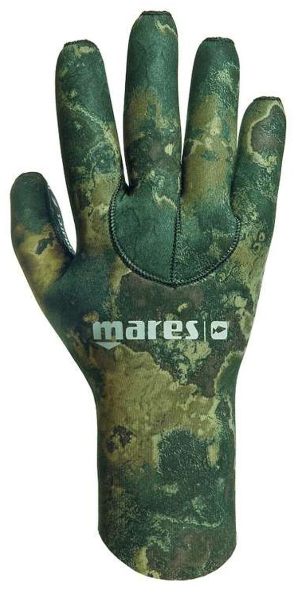 Mares Pure Instinct 3mm NeopreneGreen Camouflage Five Finger Gloves