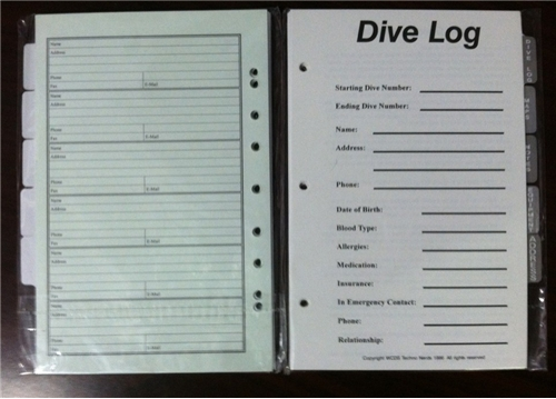 Trident Log Book Address Refill Pages