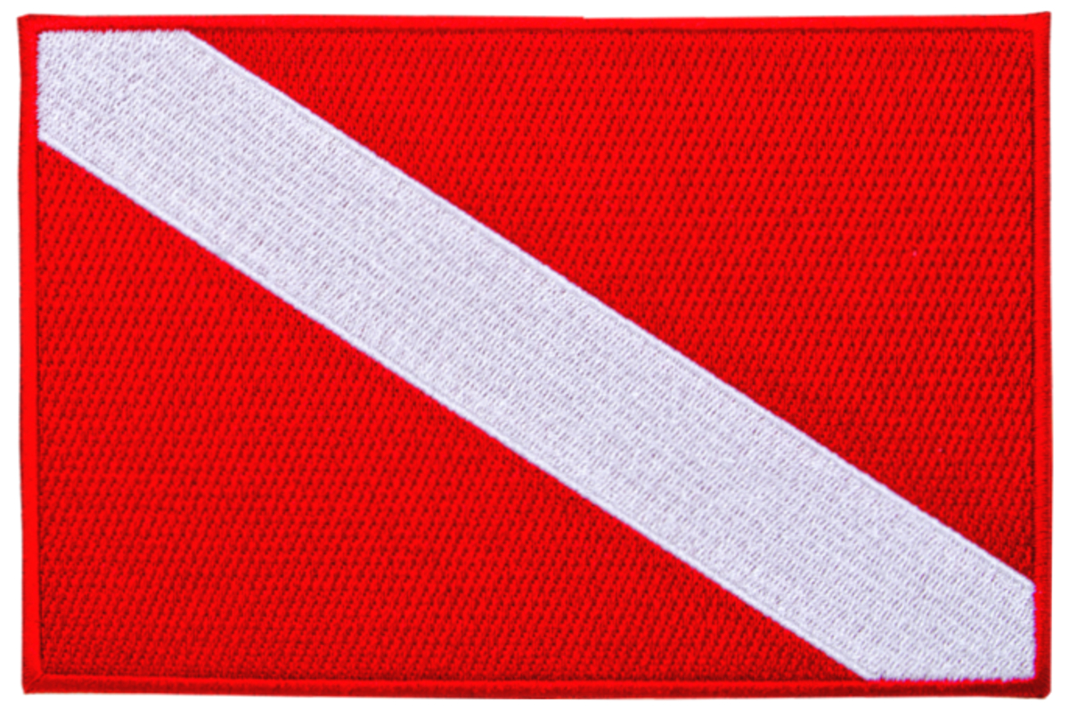 Innovative Emroidered Large Dive Flag Patch
