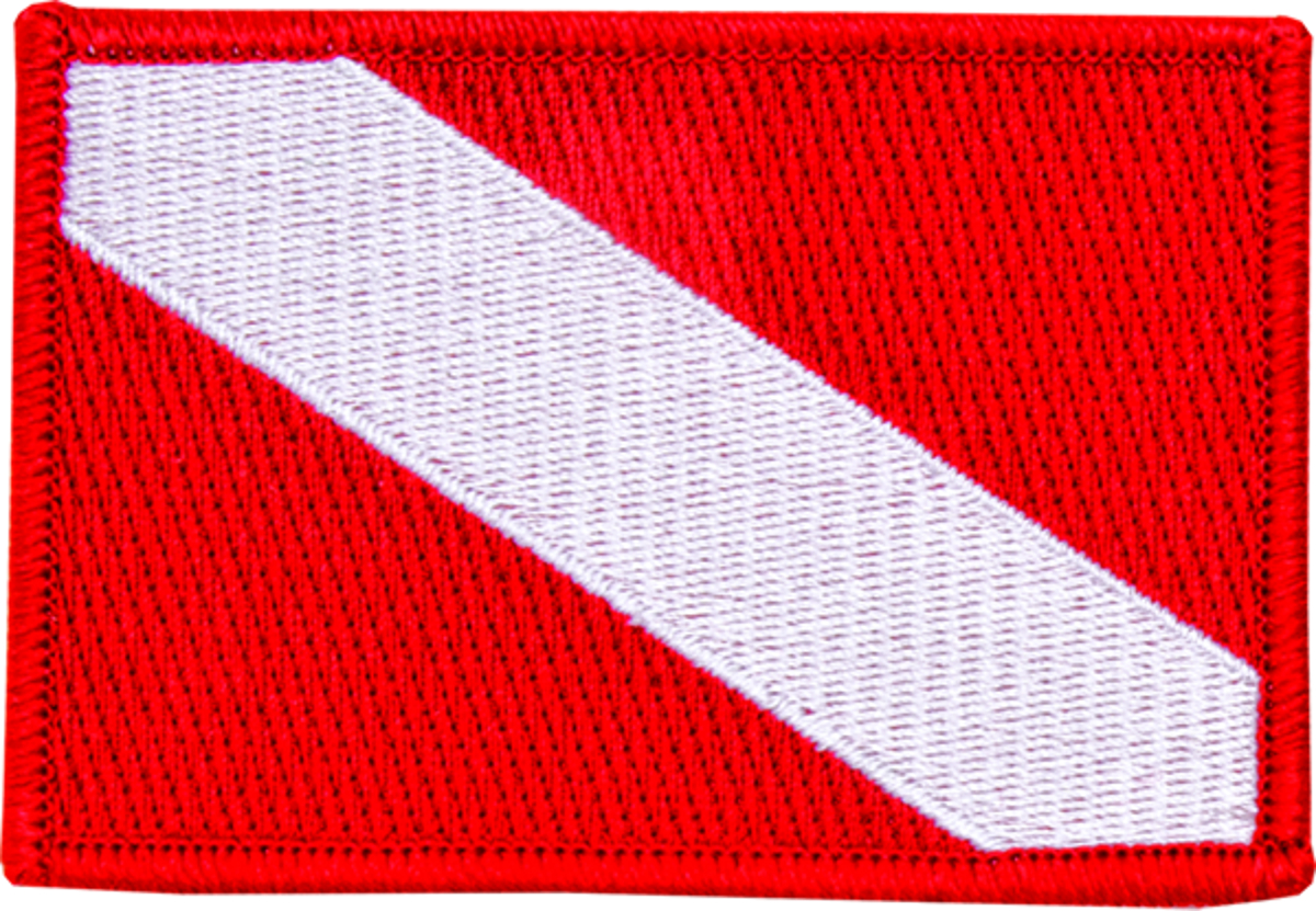 Innovative Emroidered Medium Dive Flag Patch
